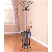 Coaster Black Coat Rack with Umbrella Stand