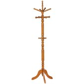 Coaster Traditional Coat Rack with Spinning Top in Tobacco
