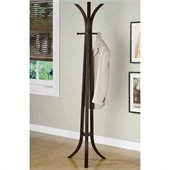 Coaster Contemporary Wood Coat Rack in Dark Wood