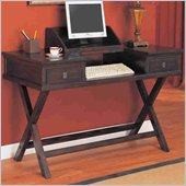 Coaster Dickson Table Desk with Hinged Top in Warm Tobacco Finish