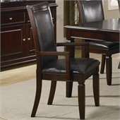 Coaster Ramona Formal Dining Arm Chair in Walnut