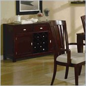 Coaster El Rey Server with Wine Storage in Intimate Cherry Finish