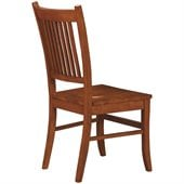 Coaster Meadowbrook Slat Back Mission Side Chair in Warm Medium Brown