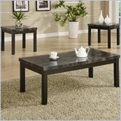 Coaster 3 Piece Occasional Table Sets Coffee and End Table Set in Black