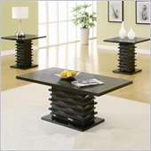 Coaster 3 Piece Occasional Table Sets Coffee and End Table Set in Stark Black