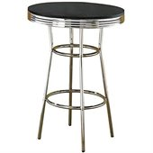 Coaster Cleveland 1950's Soda Fountain Pub Table with Black Top
