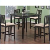 Coaster Archer 5 Piece Counter Height Dining Set in Rich Dark Cappuccino