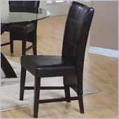 Coaster Shoemaker Parson Side Chair in Rich Dark Brown Faux Leather
