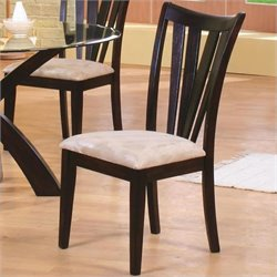 Coaster Shoemaker Contemporary Vertical Slat  Dining Chair with Fabric Seat