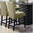 ADD TO YOUR SET: Coaster Stanton 24 Inch Bar Stool with Sleek Green Material
