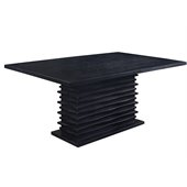 Coaster Stanton Contemporary Dining Table in Black Finish