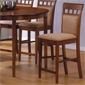 Coaster Hyde 24 Inch Upholstered Panel Back Walnut Bar Stool