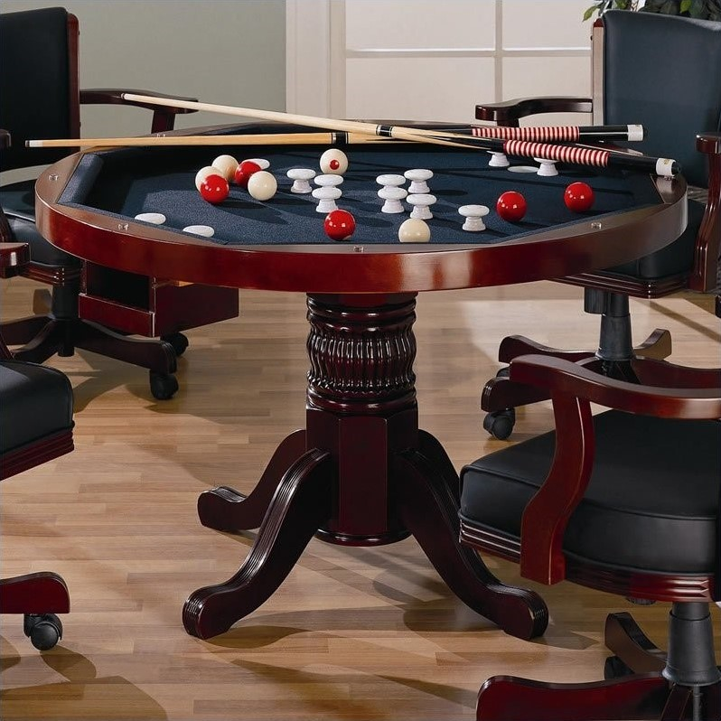 Coaster Mitchell 3-in-1 Game Table in Cherry 100201