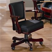 Coaster Mitchell Upholsted Arm Game Chair with Casters in Cherry