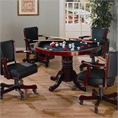 Coaster Mitchell 5 Piece 3-in-1 Game Table Set in Cherry