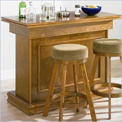 Coaster Mitchell Bar Unit with Storage in Oak Finish