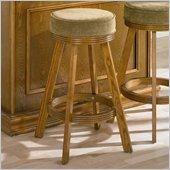 Coaster Mitchell Upholstered Bar Stool in Oak Finish