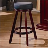 Coaster Mitchell Upholsted Bar Stool in Cherry Finish