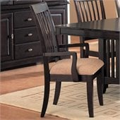 Coaster Monaco Dining Arm Chair with Fabric Seat in Rich Dark Cappuccino