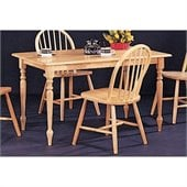 Coaster Damen Rectangle Leg Dining Table in Warm Natural Wood Finish