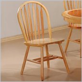Coaster Damen Arrow Back Windsor Side Chair in Warm Natural Wood Finish
