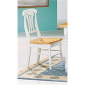 Coaster Damen Lyre Back Dining Side Chair in Warm White and Natural Wood Finish