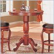 ADD TO YOUR SET: Coaster Harrison Bar Table with Traditional Pedestal Base in Warm Cherry Finish