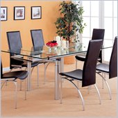 Coaster Himmarshee Glass Dining Table with 2 Pullout Extensions
