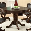 ADD TO YOUR SET: Coaster Turk 3-in-1 Round Pedestal Game Table in Medium Oak Finish