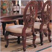 Coaster Nottingham Carved Side Chair with Cabriole Legs in Rich Brown