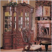 Coaster Nottingham Dining Buffet & Hutch Cabinet in Rich Brown Finish