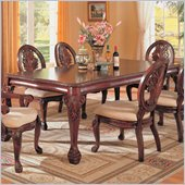 Coaster Tabitha Traditional Rectangular Dining Table in Cherry Finish