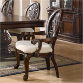 Coaster Tabitha Traditional Dining Arm Chair in Cherry Finish