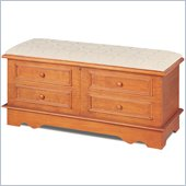 Coaster Padded Pine Cedar Chest with False Drawer Front