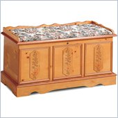 Coaster Pine Cedar Chest with Padded Seat