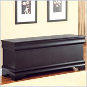 Coaster Louis Philippe Style Cedar Chest in Black Finish