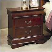 Coaster Saint Laurent 2 Drawer Nightstand in Cherry Finish