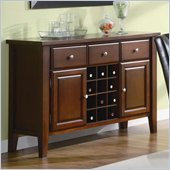 Coaster Rodeo Server with Wine Rack in Romantic Cherry Finish