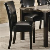 Coaster Carter Upholstered Dining Side Chair in Black