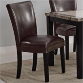 Coaster Carter Upholstered Dining Side Chair in Brown