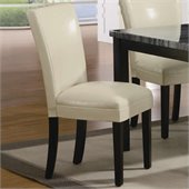 Coaster Carter Upholstered Dining Side Chair in Cream