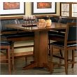 ADD TO YOUR SET: Coaster Lancaster Counter Height Pedestal Table in Distressed Dark Brown Finish