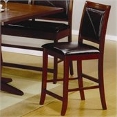 Coaster Lancaster 24 Counter Height Bar Stool in Faux Leather 