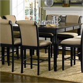 Coaster Cabrillo Counter Height Dining Table in Deep Black Finish