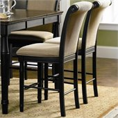 Coaster Cabrillo Counter Height Dining Chair in Rich Dark Black Finish