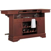 Coaster Lambert Traditional Bar Unit with Sink in Cherry