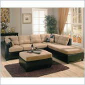 Coaster Harlow Two Tone Sectional Sofa in Tan and Dark Brown