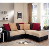 Coaster Lily Contemporary Sectional with Assorted Back Pillows