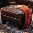 ADD TO YOUR SET: Coaster Samuel Contemporary Ottoman in Chocolate Bonded Leather