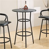Coaster Dixie Round Metal Pub Table in Black